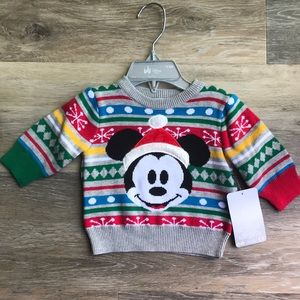 NWT Disney Mickey Mouse Christmas Sweater